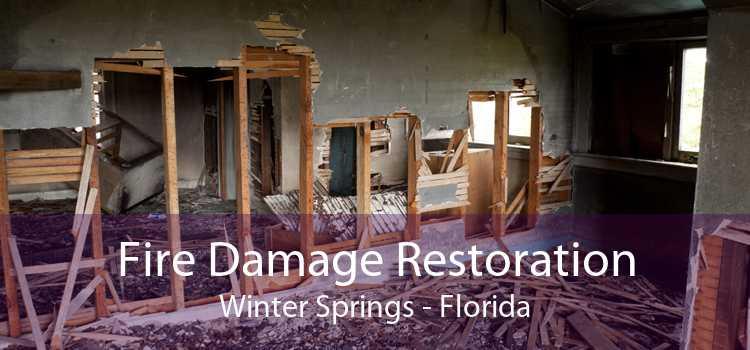 Fire Damage Restoration Winter Springs - Florida