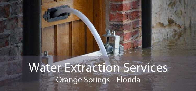 Water Extraction Services Orange Springs - Florida